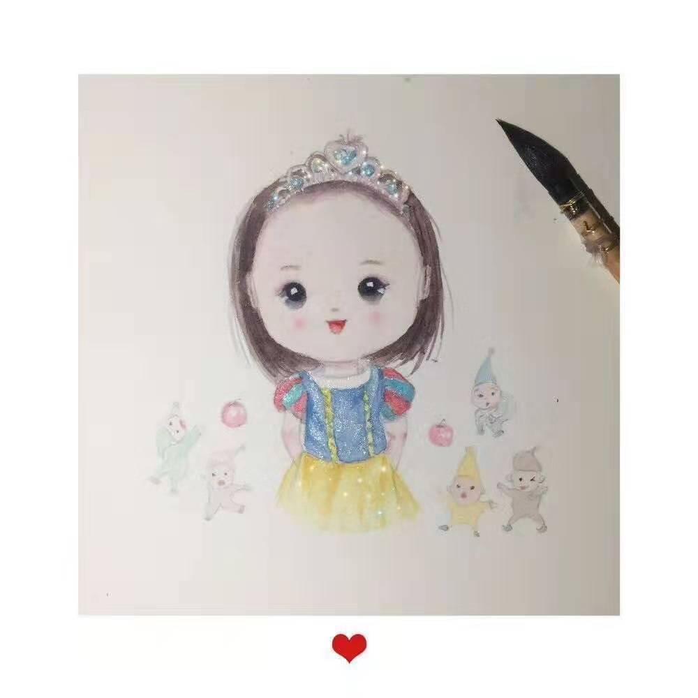 お子さんのかわいい一瞬を水彩画にします やわらかい空気とほんわかした色合いの美しさをお届けします