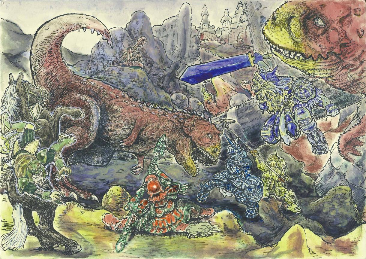ご希望のイラストを製作致します 漫画・アニメ系イラスト,ペン画による動物や風景等のリアル画