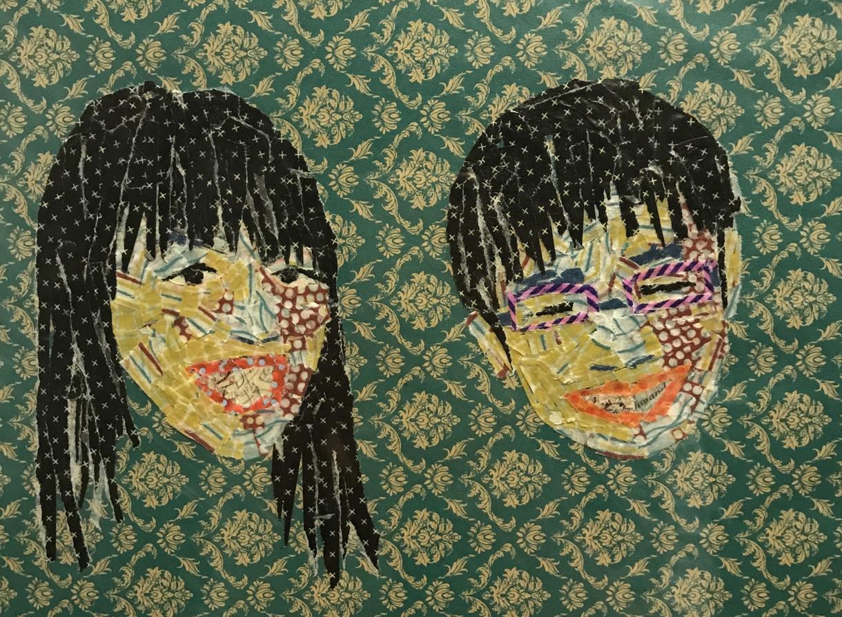 マスキングテープで似顔絵やイラストアート作ります 結婚式のウェルカムボードやプレゼントなどにおススメです!