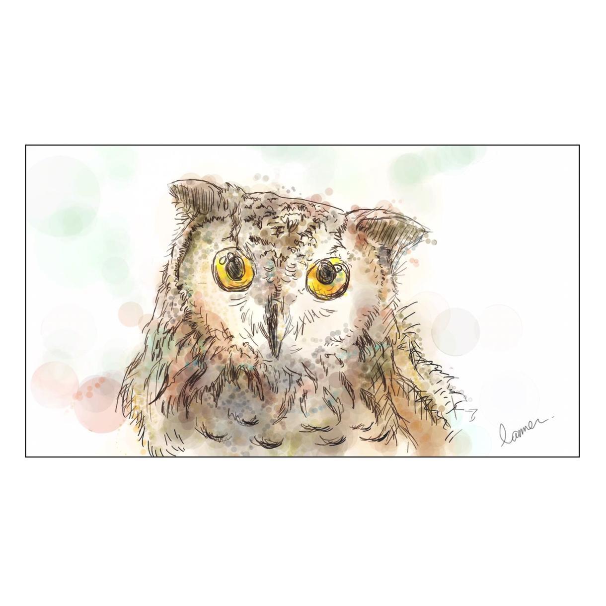 ペットの水彩画イラスト*作成いたします 大切なペットをイラストにしたい方へ。データでお渡しします!