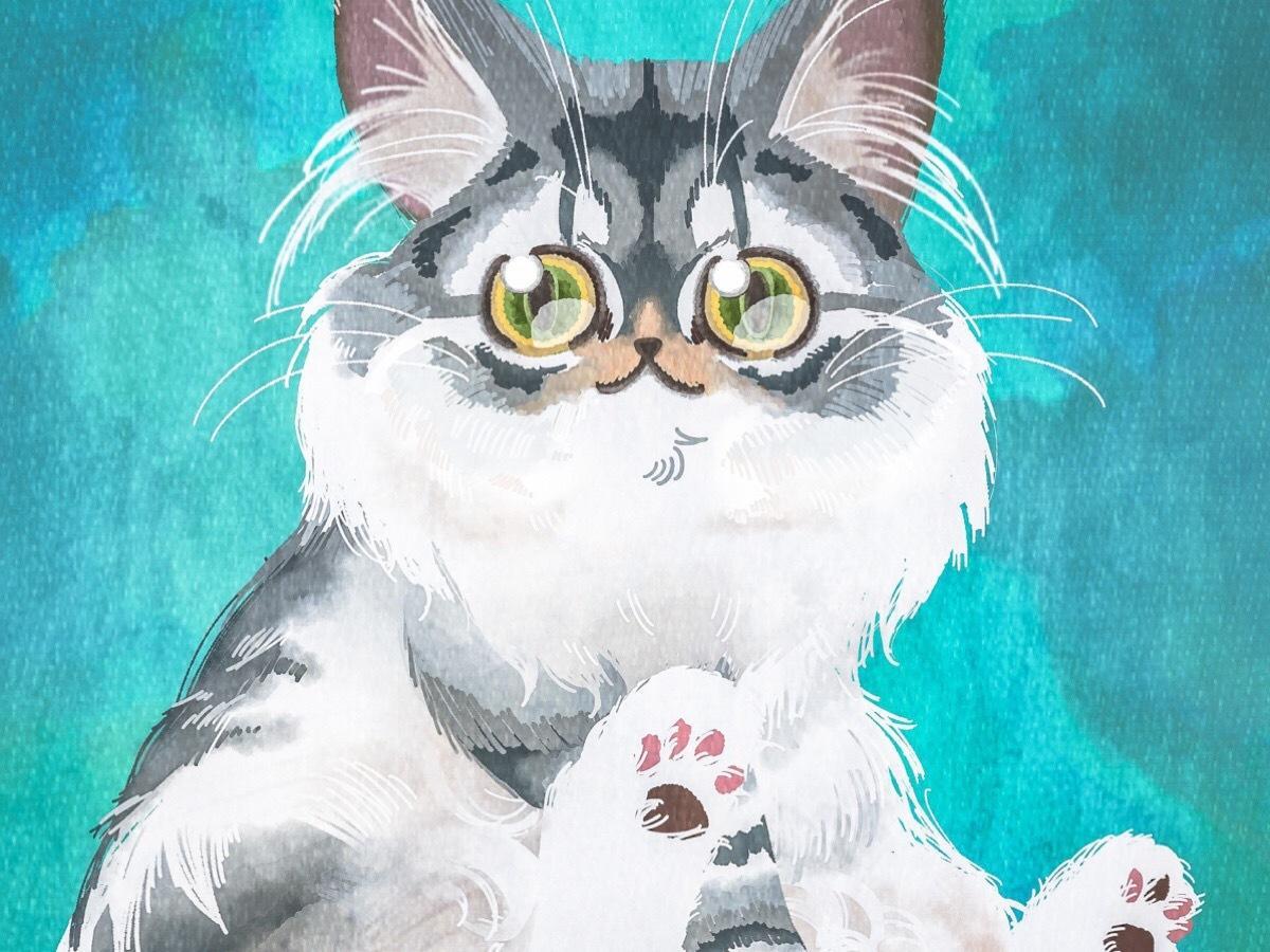 高解像度!ポップでリアルに猫ちゃんをお描きします データでお渡しするのでグッズやポスター等にしていただけます!