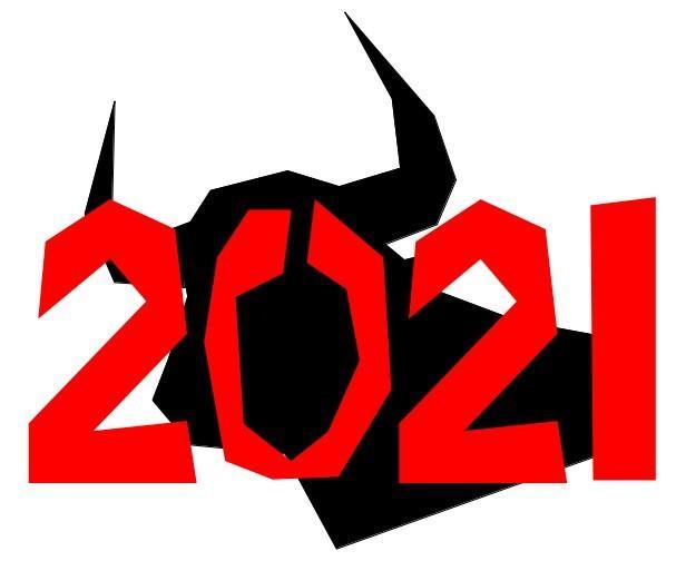 2021年の図案、提供します 丑図案、年賀状や年賀メールなどに、いかがでしょうか イメージ1