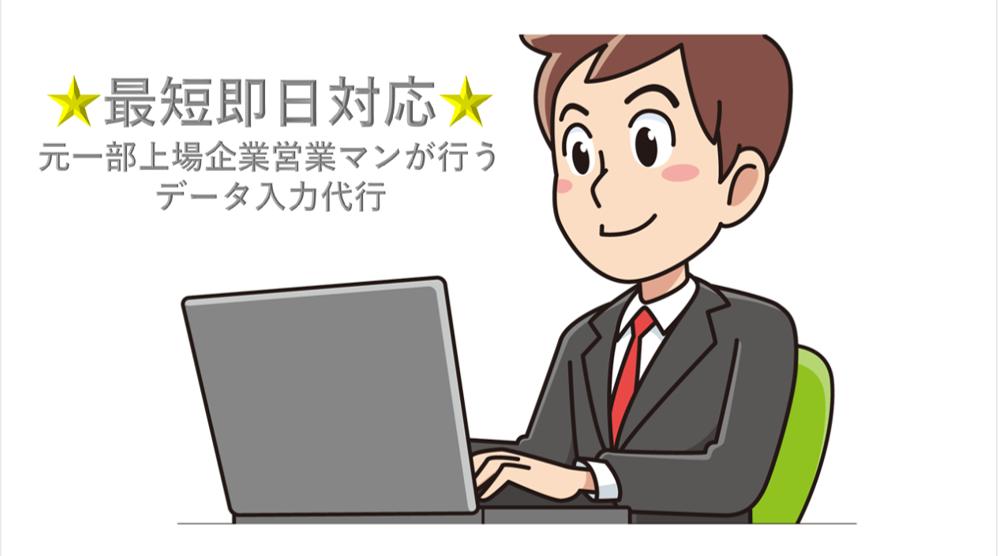 Excelのデータ入力、関数代行します 【元一部上場企業営業マンがやる】安定した入力代行 イメージ1