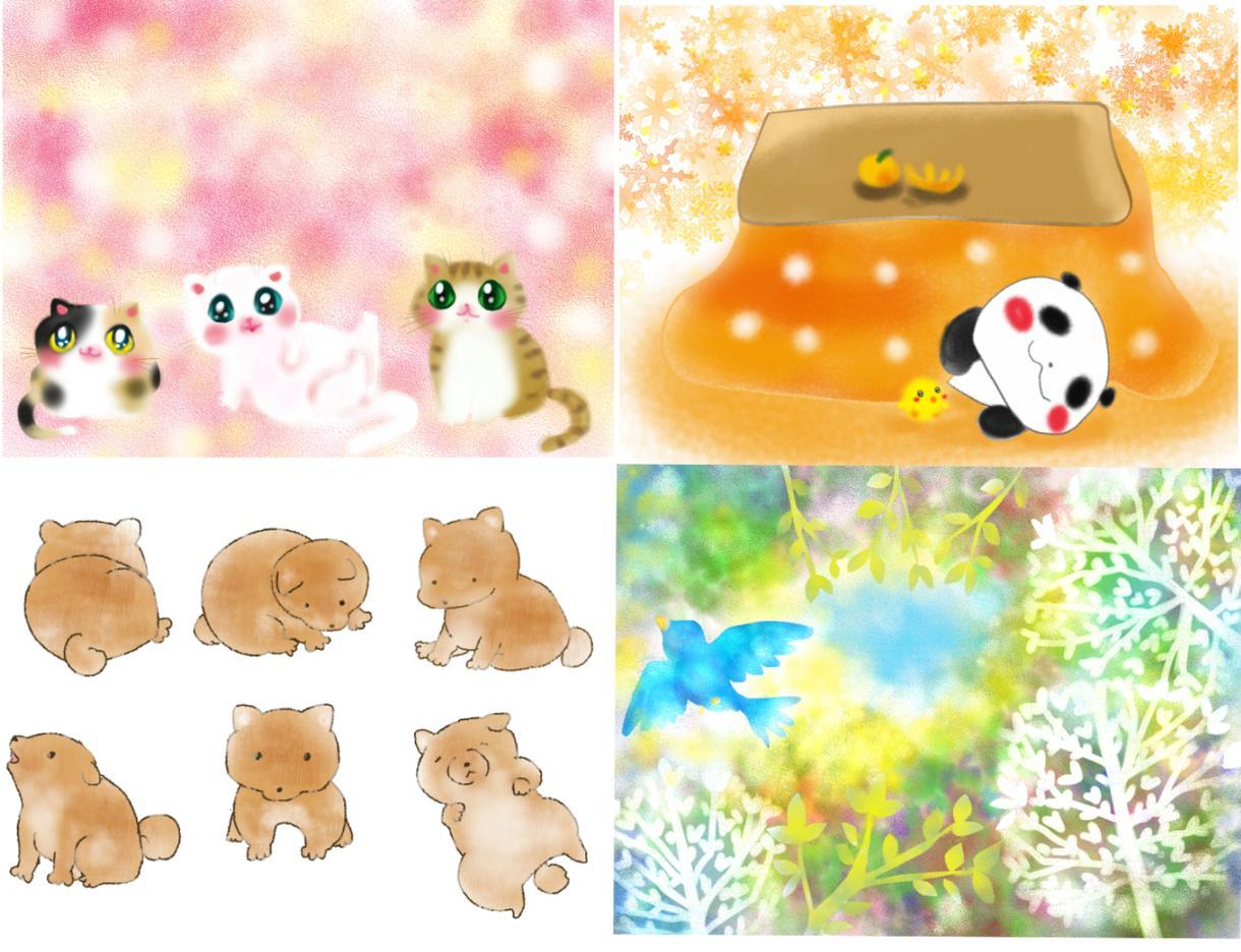 ほのぼのかわいい動物、ペットを描きます あなただけのかわいい動物、愛するペットをお描きします イメージ1