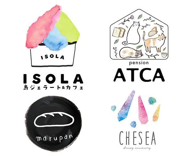 著作権譲渡、aiデータ込!ロゴ作成いたします 手書き風、ゆるいシンプル、おしゃれなロゴを作成いたします。
