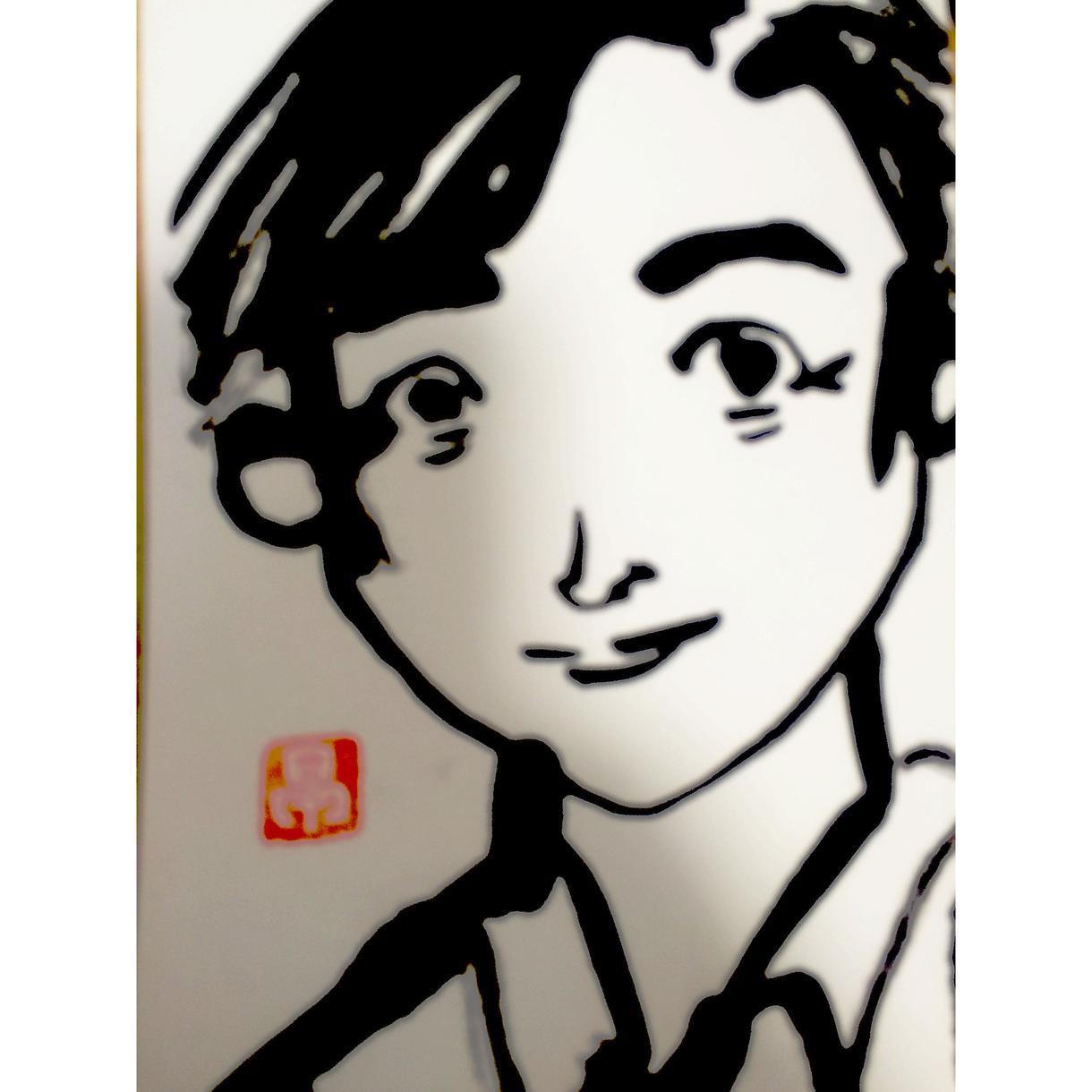 絵手紙のプロが墨で似顔絵を描かせていただきます
