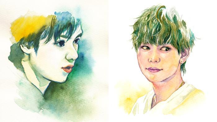 手描き水彩で似顔絵をお描きします SNSのプロフィール画像やアイコン用に