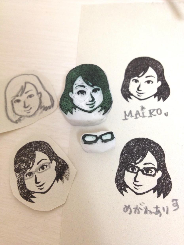 【名刺にもっとインパクトを与える】似顔絵はんこ用の似顔絵を描きます。