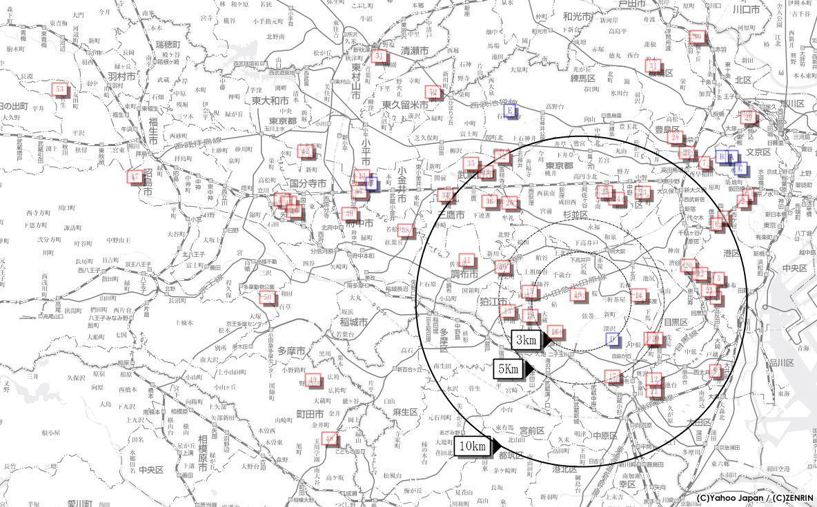 地図資料・分布図の作成(お試し)