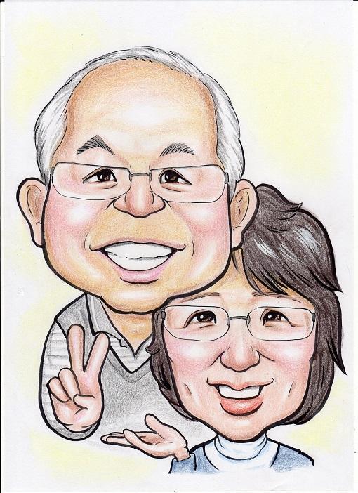 手描きの似顔絵を画像データで送ります 名刺、店舗の広告、プレゼントにご使用ください。
