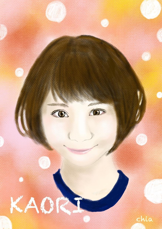 デジタル画で似顔絵お描きします パステル調のふんわり似顔絵いかがですか?