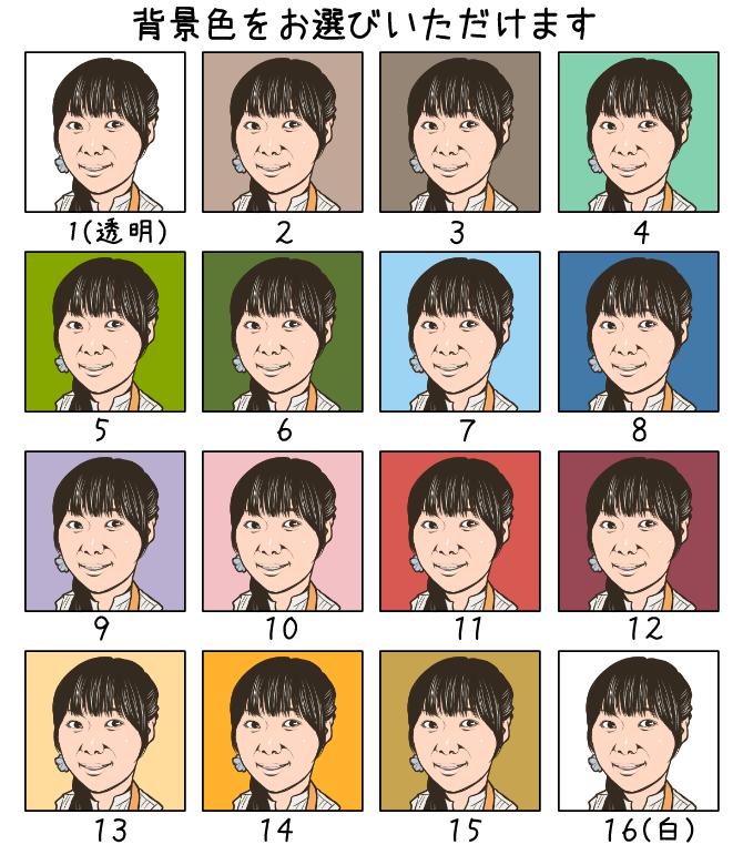 SNSやブログなどに使える似顔絵を制作します 営業やイベントなどで顔を覚えてもらうツールとして。