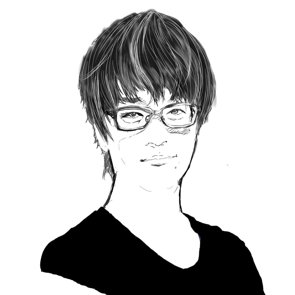 渋くてクールな似顔絵描きます 写真を元にシルエットそのまあまでアイコン作成行います