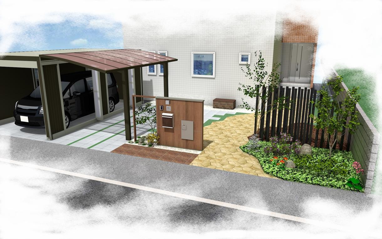 庭、ガーデニング等の3D外構図面の作成を行います 室内装飾、マンションの外構プラン等もお受けしています