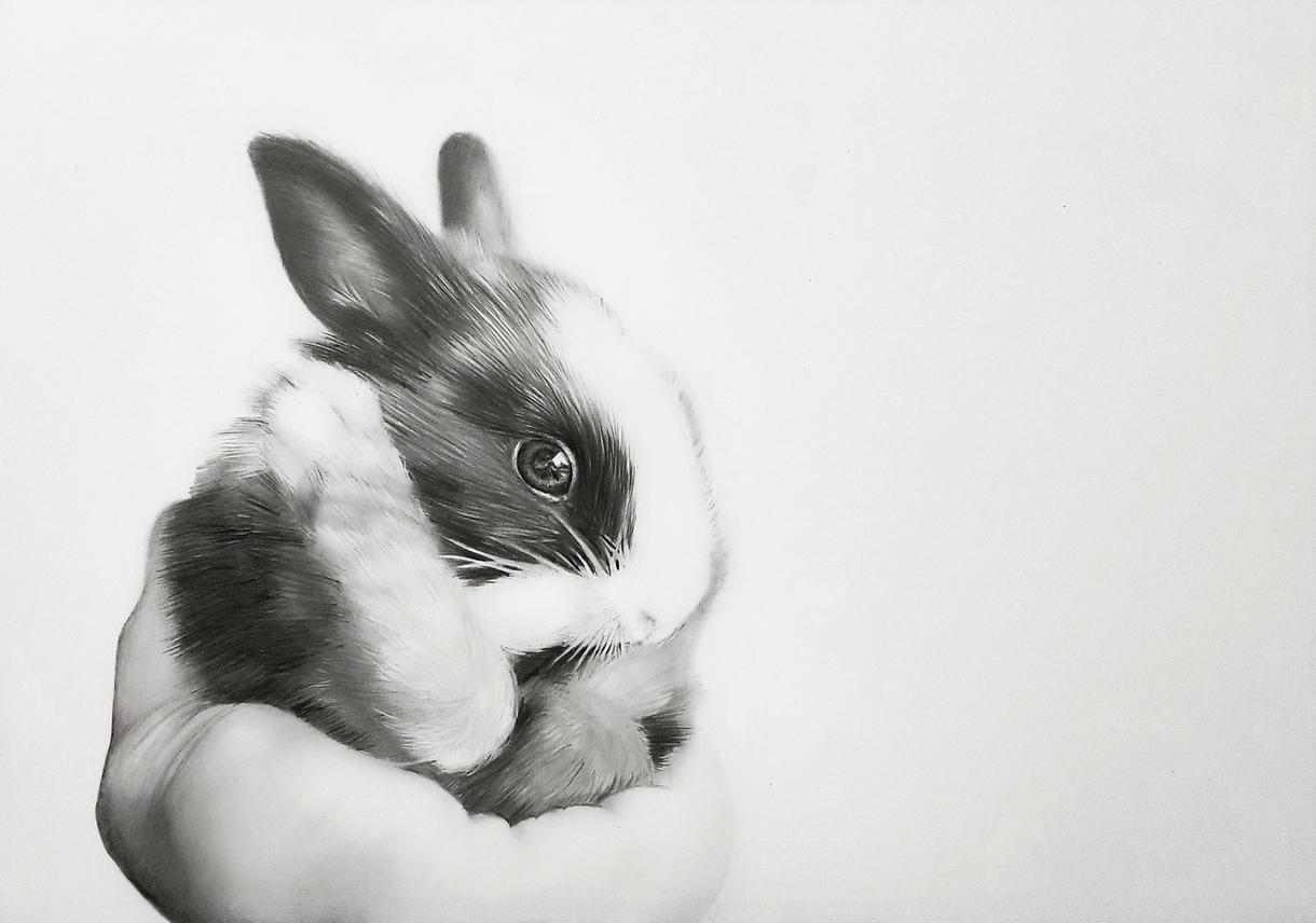 あなたの大切な人の肖像画・ペットの絵書きます 世界で1枚だけ。懐かしさを感じる白黒写真のような鉛筆画です。