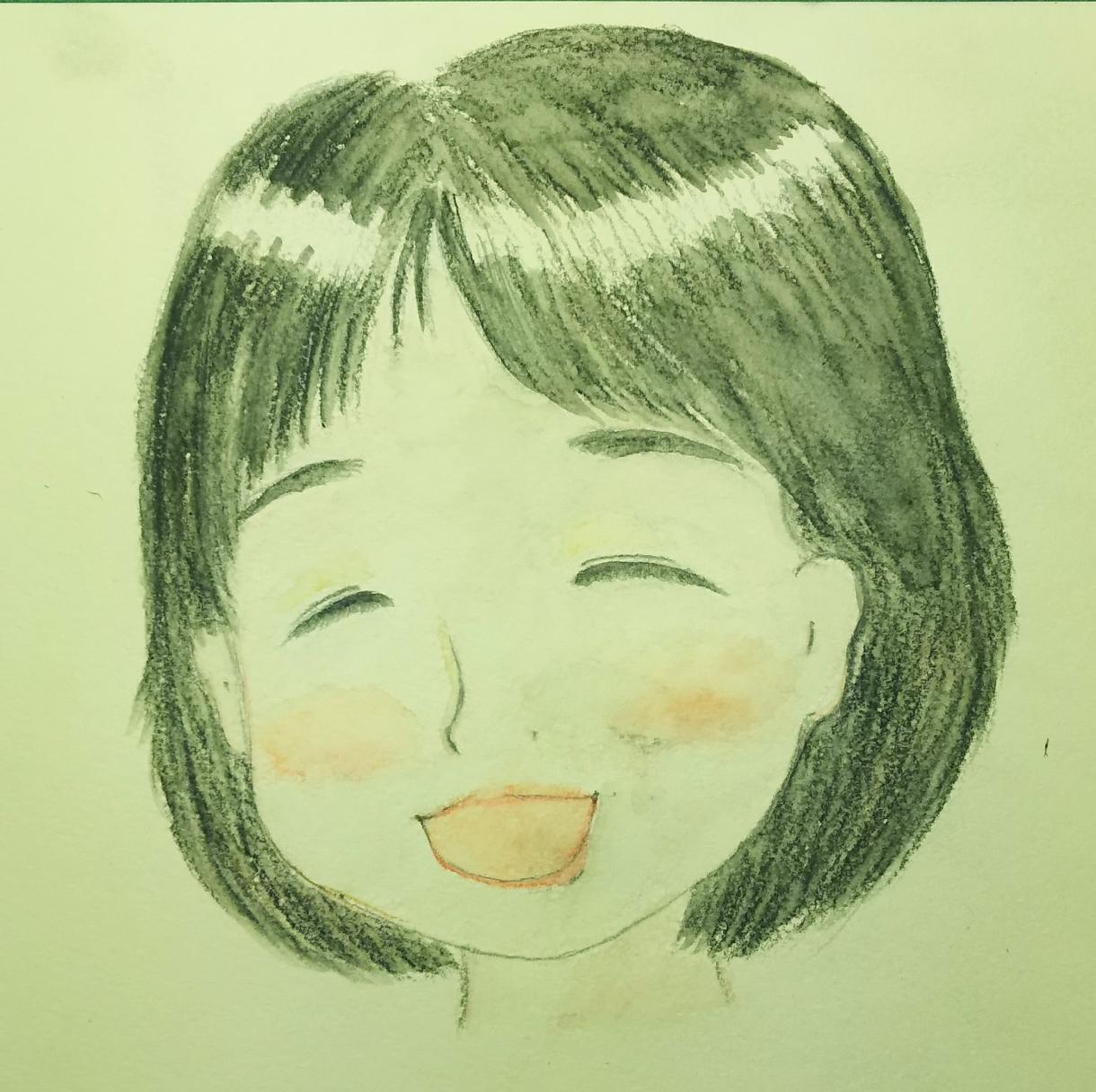 絵本のような優しい似顔絵お描きします 見て心が暖まるような笑顔をあなたへ