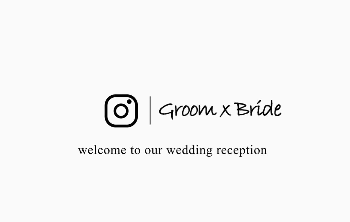 Instagram風結婚式動画を製作します 高品質Instagram風のブライダルムービーを低価格で!