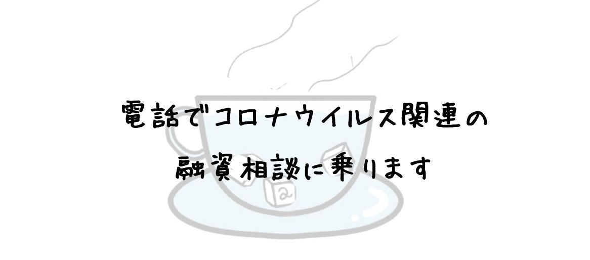 電話でコロナウイルスの融資相談に乗ります 日本政策金融公庫の貸付や補助金制度に関して相談に乗ります。 イメージ1