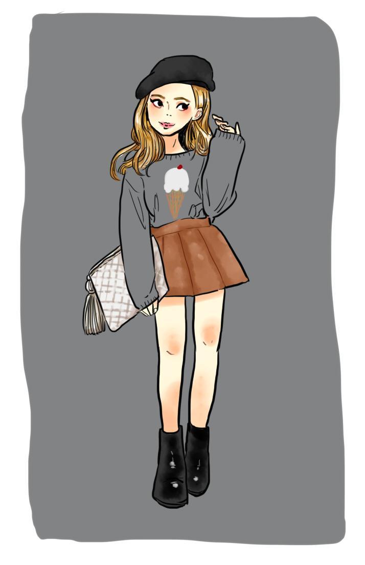 カワッコイイ似顔絵描きます SNSや名刺用、おしゃれなファッションイラストにおススメ!