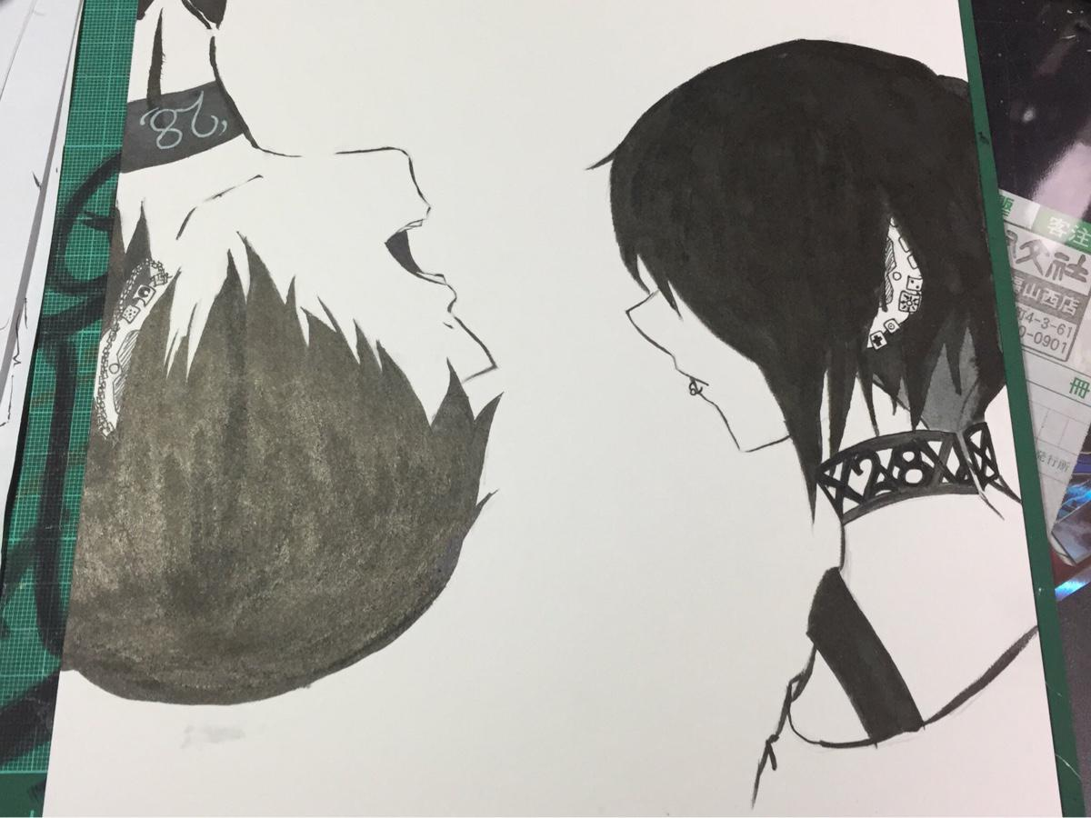 筆ペンでイラストを描きます キャラクターの一味違った1枚絵が欲しい方に。