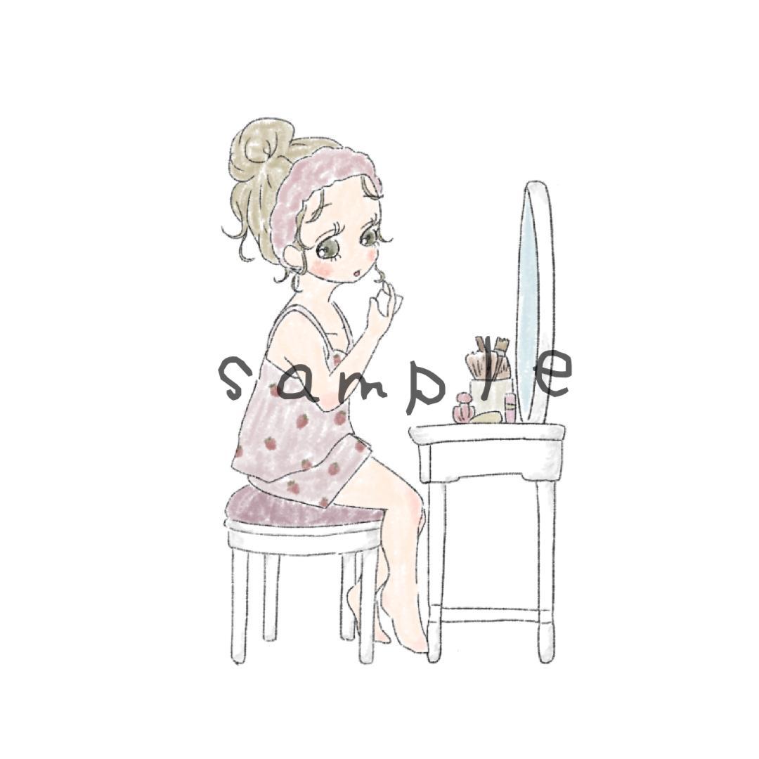 SNSアイコンなどのイラスト描きます きゅるるんおめめのふわっとしたイラスト イメージ1