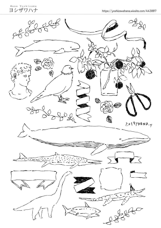 イラスト(白黒モノトーン)描きます おしゃれなイラストが欲しい時に
