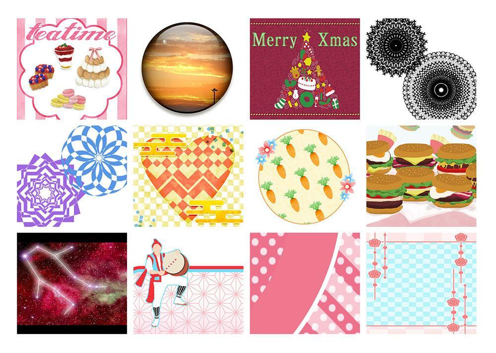 アイコンなどのイラスト描きます 様々なテイストのイラストや簡単なデザインをお引き受けします!