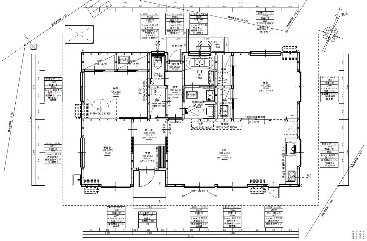 JWcadで住宅の平面図作成します その手間がかかる作業は暇な私に投げて他のことやってください イメージ1
