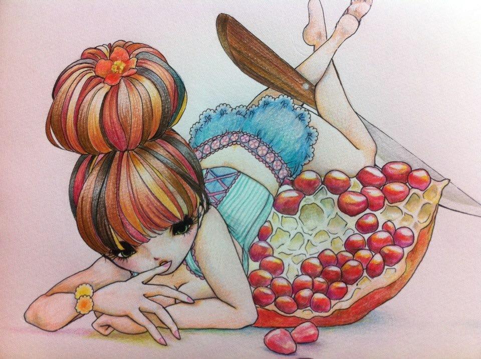 色鉛筆であなただけのイラストを手描きします 人と被りたくない!というオシャレな方にオススメ