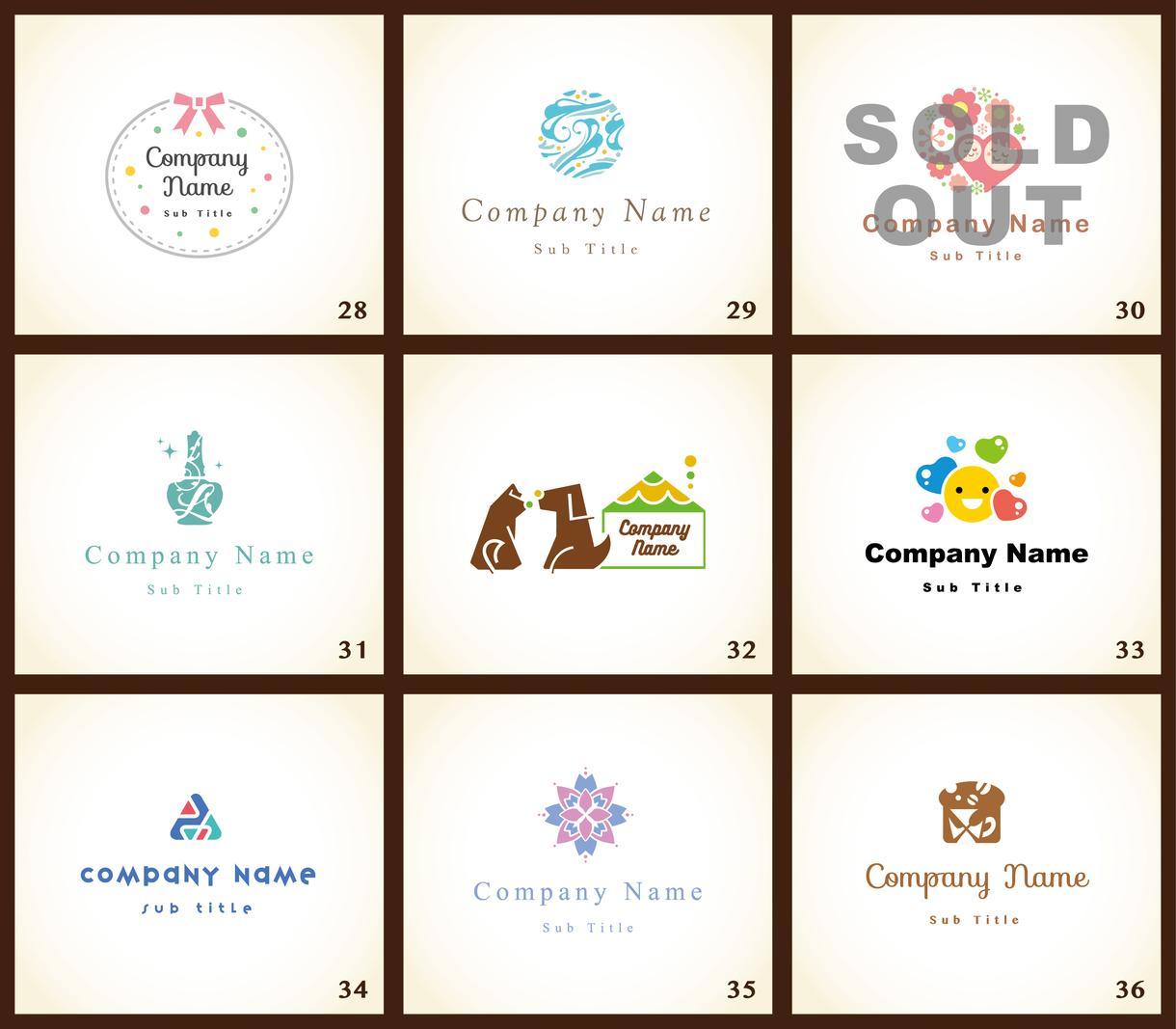 No.19〜27新作追加!高品質ロゴを販売します ココナラ特価*お好きなロゴを見て選べるから安心・確実です♬
