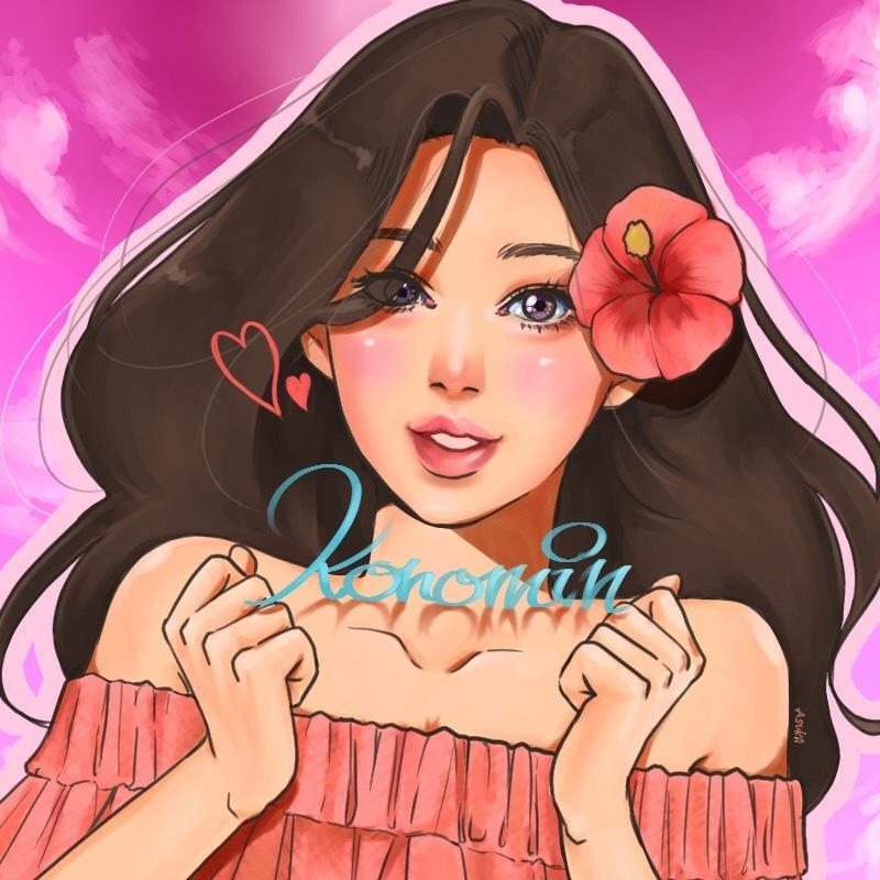 綺麗な人物画アイコン描きます グッと目を引く色彩豊かな細部まで描き込む美人画が特徴!