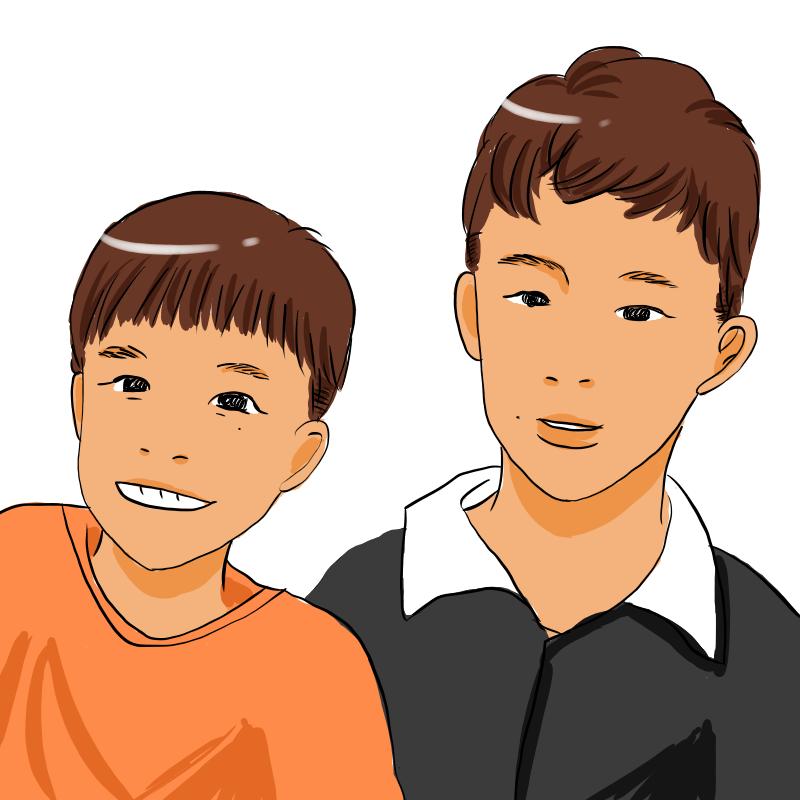 SNSでのアイコンに使える似顔絵を描きます Facebook,Instagram,Twitterなどに