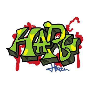 HIPホップ文字など 描きます。