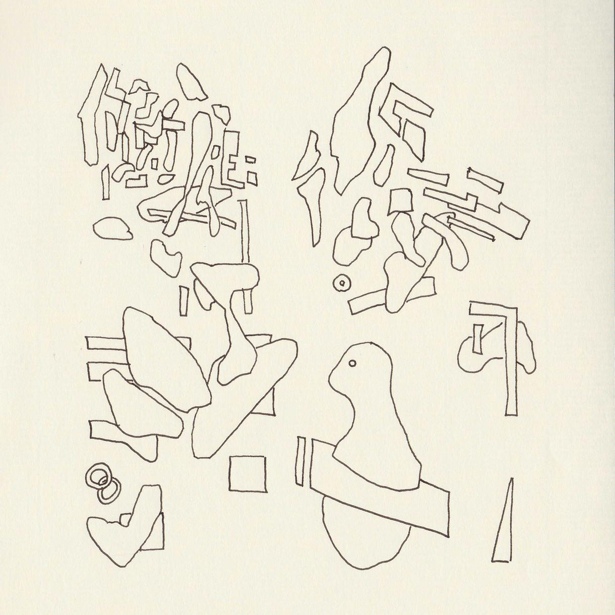 抽象的ペン画を作成いたします アナログ画になりますのでデジタルとしても、作品としてもどうぞ
