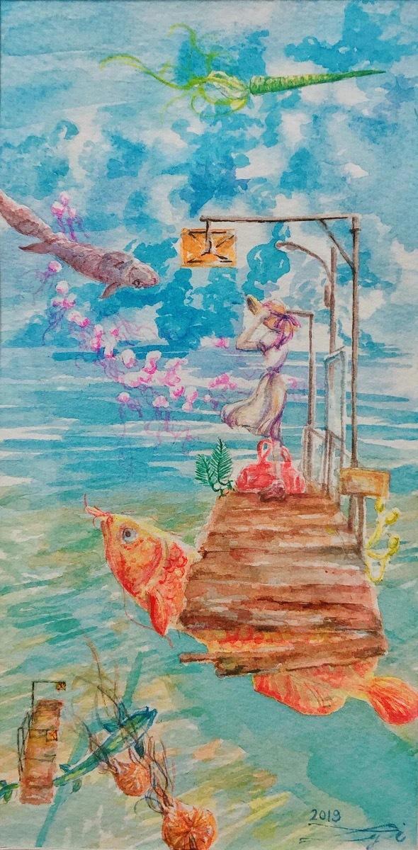水彩画でイラストを描きます 忘れられない風景、大切な人へのプレゼントに水彩画を。