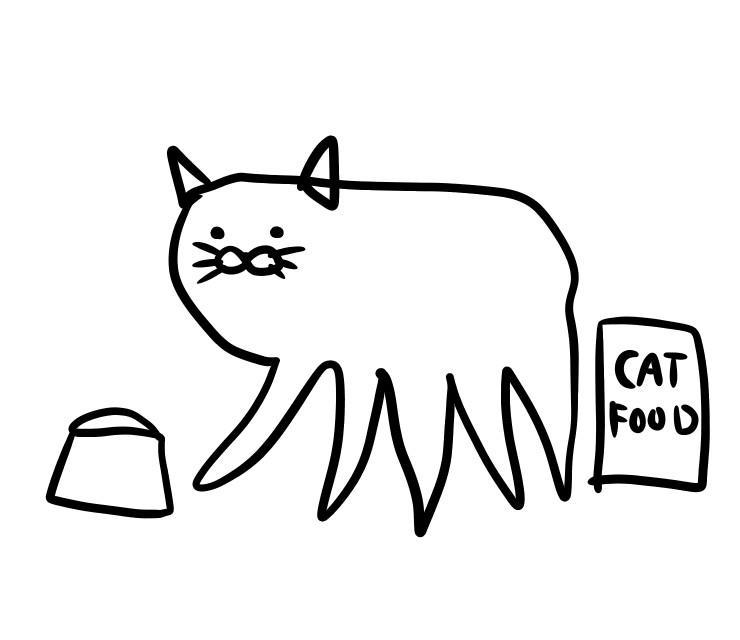 動物イラストを、ゆるゆるや漫画タッチで。