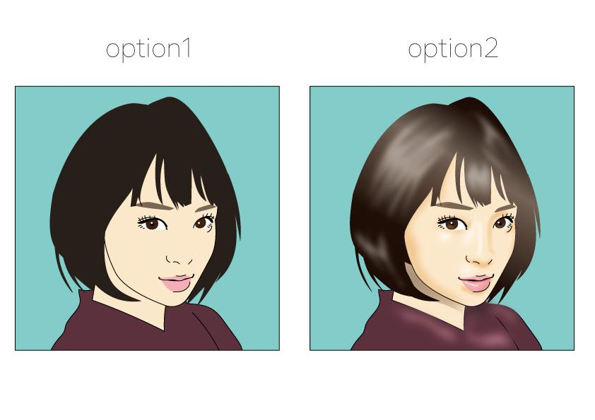 シンプルだけど絶妙に似ている似顔絵描きます イラレで作成!用途は無限大♪アイコンや名刺、商用利用などに