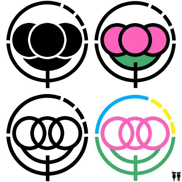 アウトラインの太いロゴデザインの制作