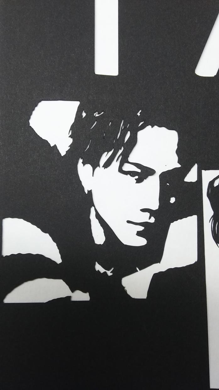 好きな芸能人の切り絵をやります 好きな芸能人をモノクロの世界でクールでセクシーに表現します。