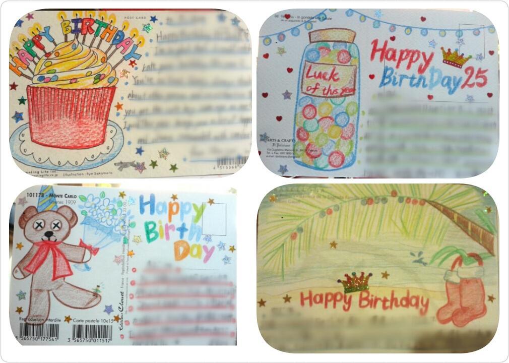 大切な人に【誕生日カード】を贈りたい♪ 一人ひとりの要望に合った絵を添えます。後は文章を書くだけ。