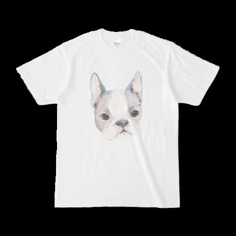 大切なペットのおしゃれなオリジナルグッズつくります ふわっと淡い水彩画イラストで、普段使いできるTシャツを