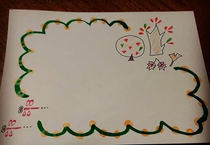 メッセージカードのフレームをデザインします 手描きならではのオリジナルカードを作りましょう!