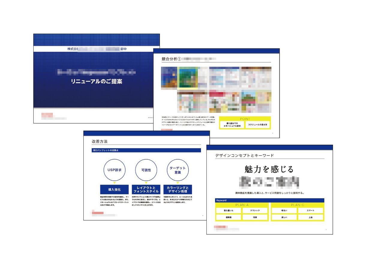 プロのデザイナーがプレゼン資料をつくります 企画書等のプレゼン資料をビジュアル的観点からブラッシュアップ イメージ1