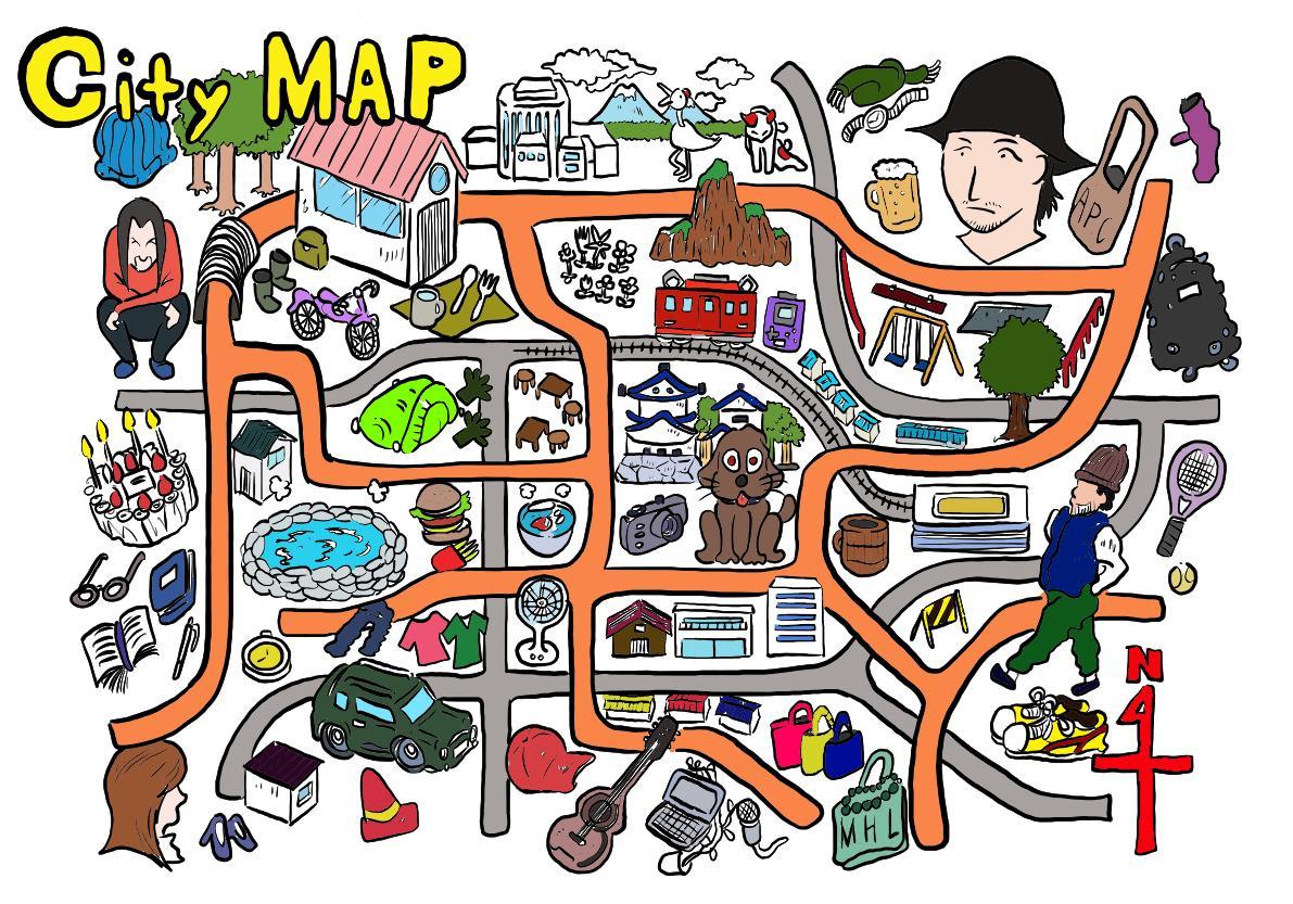 マップ作成します 雑誌に掲載イメージテイストのデザインで作成 イメージ1