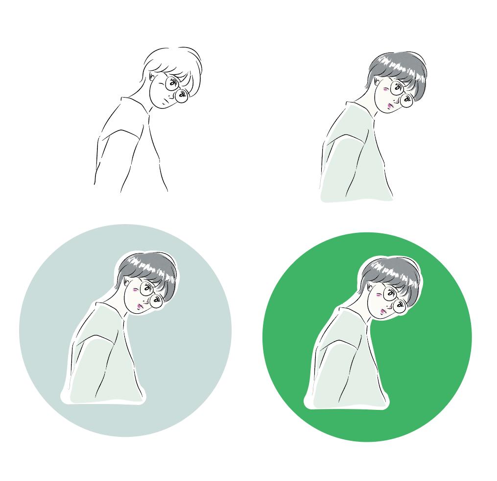 程よくゆるいアイコン描きます お洒落な似顔絵アイコン作ってみませんか? イメージ1