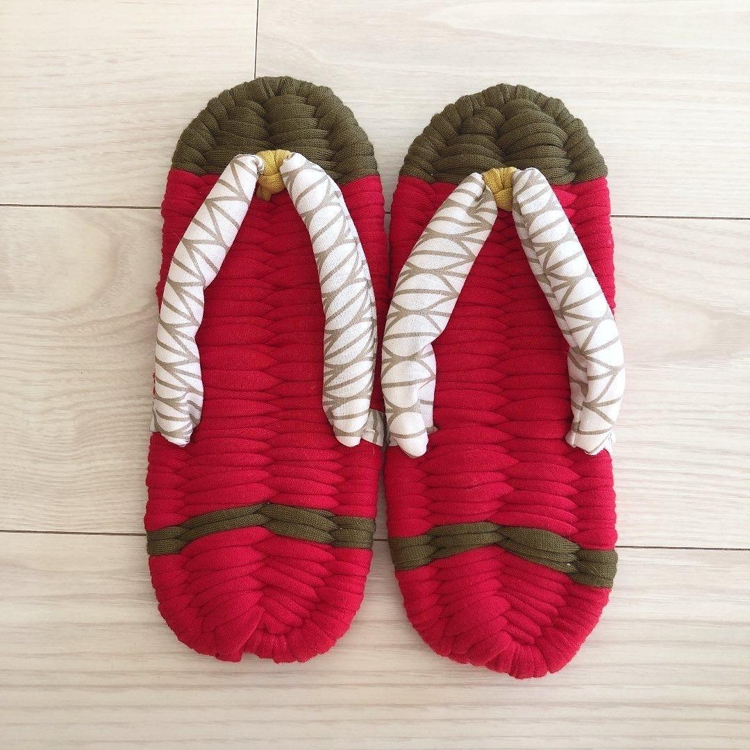 手作り布草履編みます 履き心地ふわふわな布草履。あなただけのルームシューズを製作 イメージ1