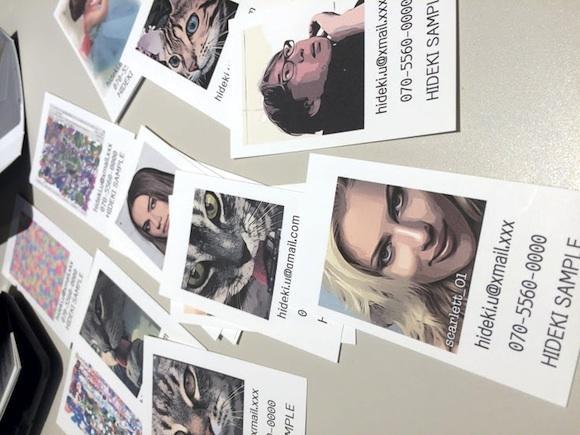 コミックスタイルのオリジナルネームカードを作ります プレゼント、記念日、ビジネスカード、ペットのネームカードにも