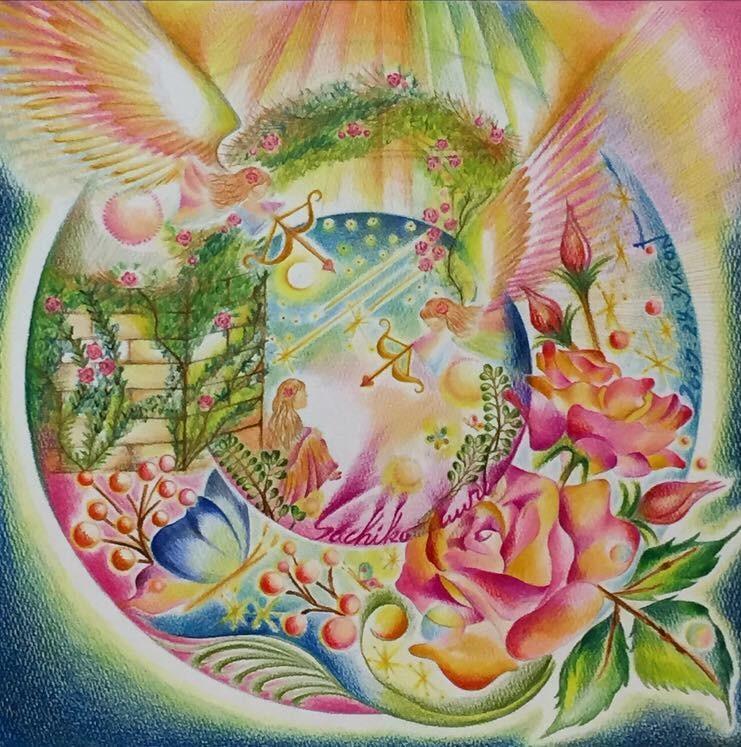 人の瞳の奥に映るオーラ映像を色鉛筆で描きます 【一生を支えてくれる世界で一つの絵画】がほしい方へ