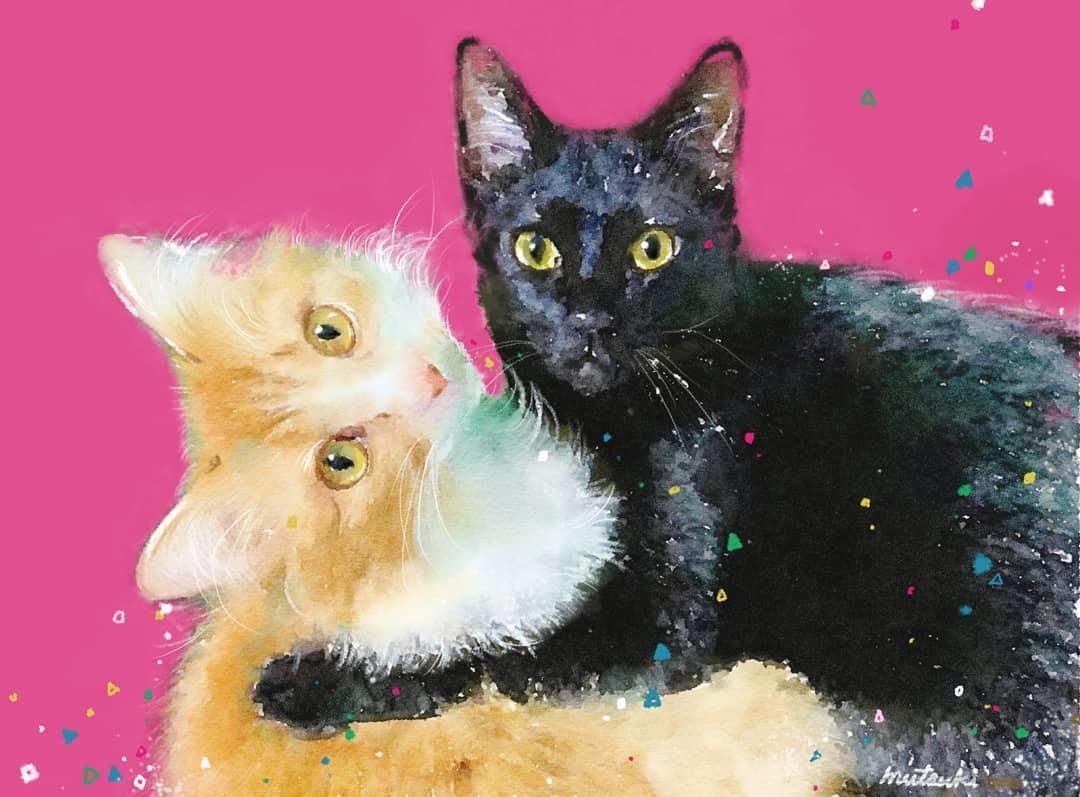 あなたのペットを色鮮やかな絵にします ペットの姿を残したい方、プレゼントを考えている方に イメージ1