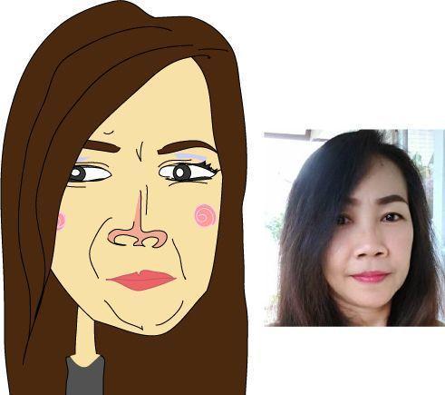 似顔絵を描きます 1つ1つ、1顔1顔をフリーハンドで描きます。